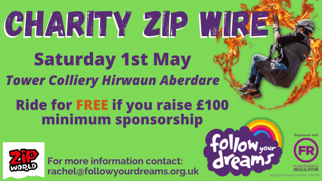 Follow Your Dreams Charity Zip Wire 2021